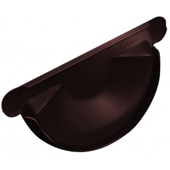Заглушка для желоба Grand Line 150 мм RAL 8017 шоколад