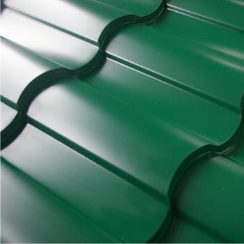 Зеленая металлочерепица