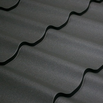 металлочерепица серый графит