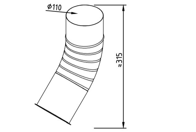 Отлив водосточный оцинкованный 110 мм гофрированный