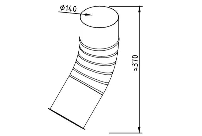 Отлив водосточный оцинкованный 140 мм гофрированный