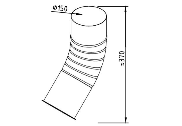 Отлив водосточный оцинкованный 150 мм гофрированный