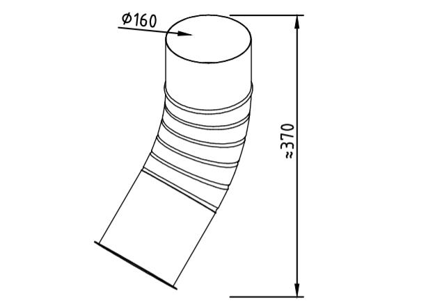 Отлив водосточный оцинкованный 160 мм гофрированный