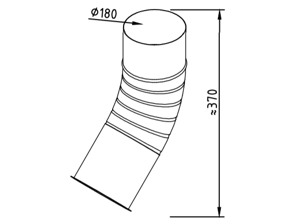 Отлив водосточный оцинкованный 180 мм гофрированный