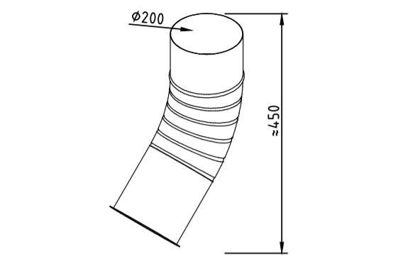 Отлив водосточный оцинкованный 200 мм гофрированный