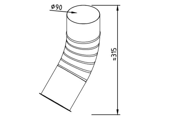 Отлив водосточный оцинкованный 90 мм гофрированный
