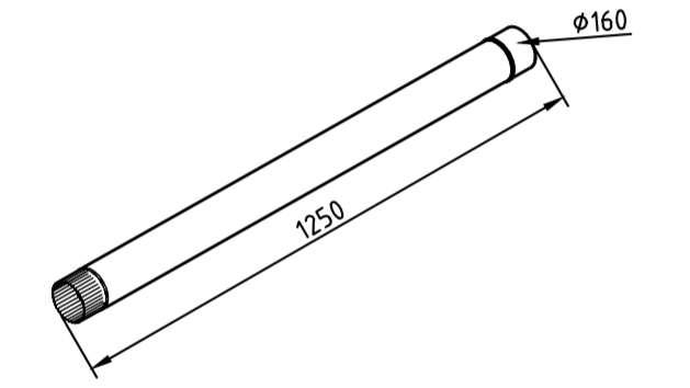 Труба водосточная 160 мм оцинкованная 1250 мм