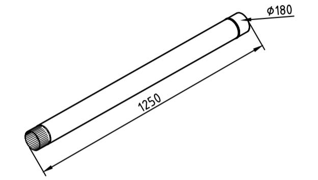 Труба водосточная 180 мм оцинкованная 1250 мм