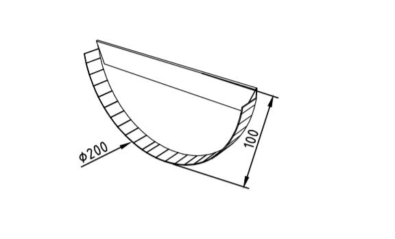 Заглушка желоба 200 мм