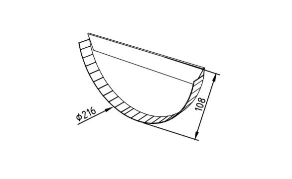 Заглушка желоба 216 мм