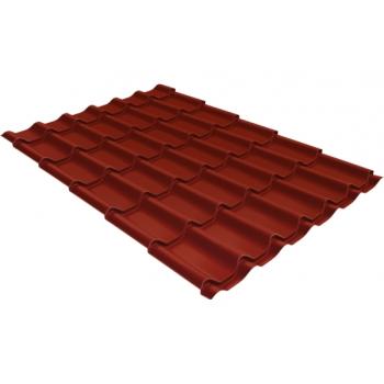 Металлочерепица классик 0,5 Satin RAL 3009 оксидно-красный