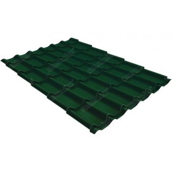 Металлочерепица классик Grand Line 0,5 Atlas RAL 6005 зеленый мох