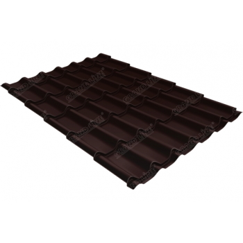 Металлочерепица классик Grand Line 0,5 Drap RAL 8017 шоколад