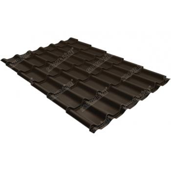 Металлочерепица классик Grand Line 0,5 Drap RR 32 темно-коричневый