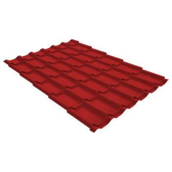 Металлочерепица классик Grand Line 0,5 GreenCoat Pural RR 29 красный (RAL 3009 оксидно-красный)