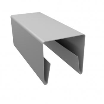 Планка П-образная заборная 20 мм 9003