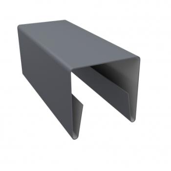 Планка П-образная заборная 20 мм