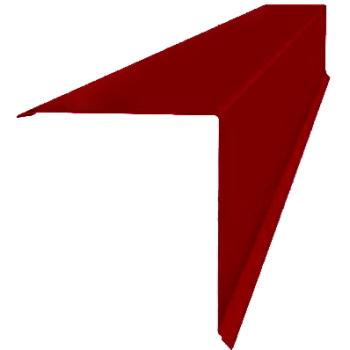 Планка конька односкатной кровли 160x160 0,45 PE с пленкой RAL 3003 рубиново-красный