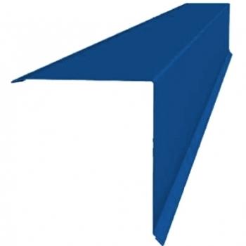Планка конька односкатной кровли 160x160 0,45 PE с пленкой RAL 5005 сигнальный синий