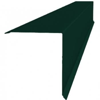 Планка конька односкатной кровли 160x160 0,45 PE с пленкой RAL 6005 зеленый мох