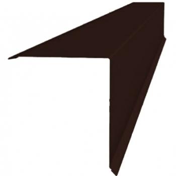 Планка конька односкатной кровли 160x160 0,45 PE с пленкой RAL 8017 шоколад