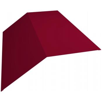 Планка конька плоского 145х145 0,45 PE с пленкой RAL 3003 рубиново-красный