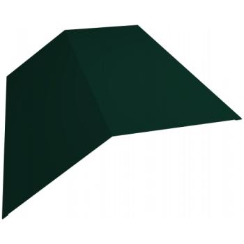 Планка конька плоского 145х145 0,45 PE с пленкой RAL 6005 зеленый мох