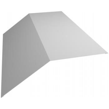 Планка конька плоского 145х145 0,45 PE с пленкой RAL 9003 сигнальный белый