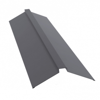 Планка конька полского 115х30х115 Ral 7004 Сигнально-серый