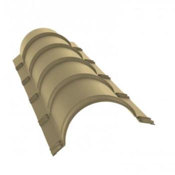 Планка конька полукруглого 0,45 PE с пленкой RAL 1014