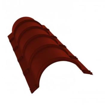 Планка конька полукруглого 0,45 PE с пленкой RAL 3009