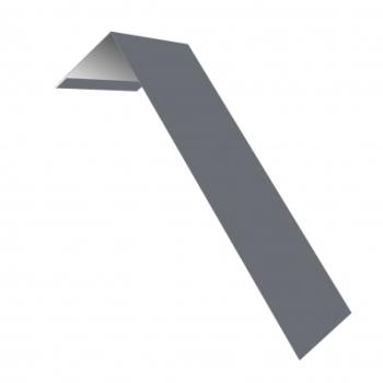 Планка лобовая околооконная простая 190х50 0,45 PE с пленкой RAL 9006 бело-алюминиевый