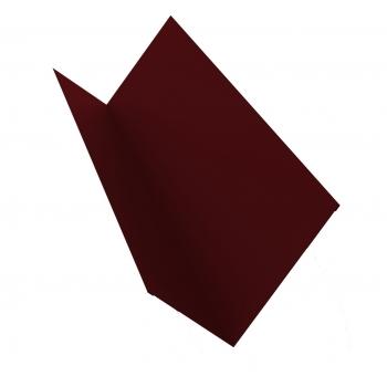 Планка примыкания 0,45 PE с пленкой RAL 3005 красное вино