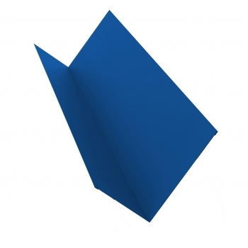 Планка примыкания 0,45 PE с пленкой RAL 5005 сигнальный синий