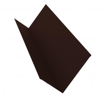 Планка примыкания 0,45 PE с пленкой RAL 8017 шоколад