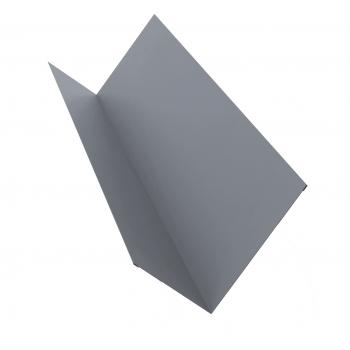 Планка примыкания 0,45 PE с пленкой RAL 9006 бело-алюминиевый