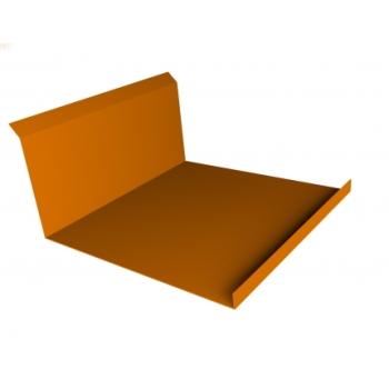 Планка примыкания нижняя 20х122х260х15 0,45 PE с пленкой RAL 2004 оранжевый