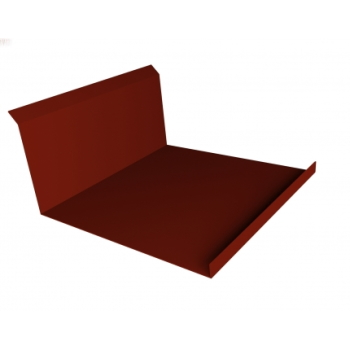 Планка примыкания нижняя 20х122х260х15 0,45 PE с пленкой RAL 3009 оксидно-красный