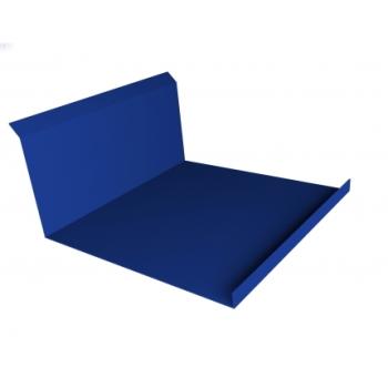 Планка примыкания нижняя 20х122х260х15 0,45 PE с пленкой RAL 5002 ультрамариново-синий