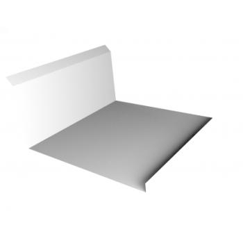Планка примыкания нижняя 20х122х260х15 0,45 PE с пленкой RAL 9003 сигнальный белый
