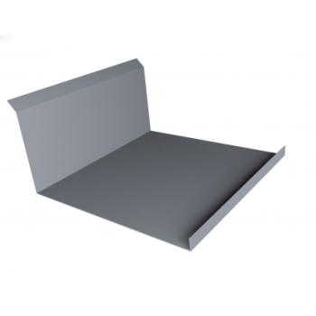 Планка примыкания нижняя 20х122х260х15 0,45 PE с пленкой RAL 9006 бело-алюминиевый