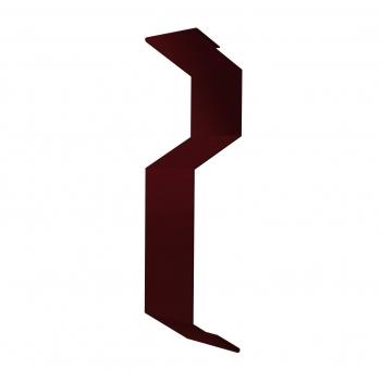 Планка примыкания внакладку 25х17х35х17 0,45 PE с пленкой RAL 3005 красное вино