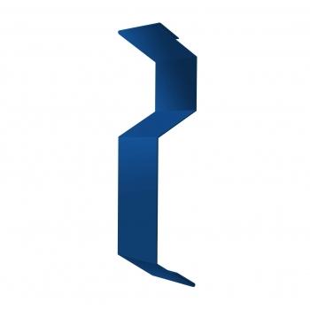 Планка примыкания внакладку 25х17х35х17 0,45 PE с пленкой RAL 5005 сигнальный синий
