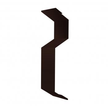 Планка примыкания внакладку 25х17х35х17 0,45 PE с пленкой RAL 8017 шоколад