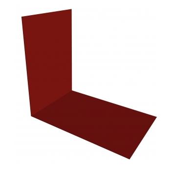 Планка снегозадержания усиливающая 0,45 PE с пленкой RAL 3011 коричнево-красный