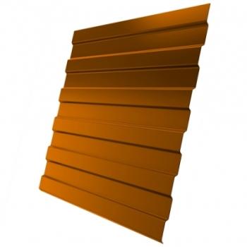 Профнастил С8А 0,45 PE с пленкой RAL 2004 оранжевый