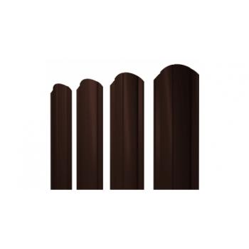 Металлический штакетник Ral 8017 шоколадно-коричневый