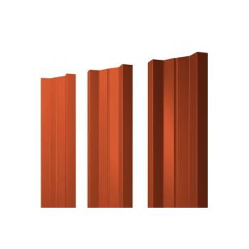 Штакетник М-образный 0,45 RAL 2004 оранжевый