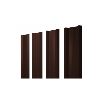 Штакетник М-образный А 0,45 Двухсторонний RAL 8017 шоколад