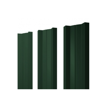 Штакетник М-образный А 0,5 Velur20 RAL 6020 хромовая зелень